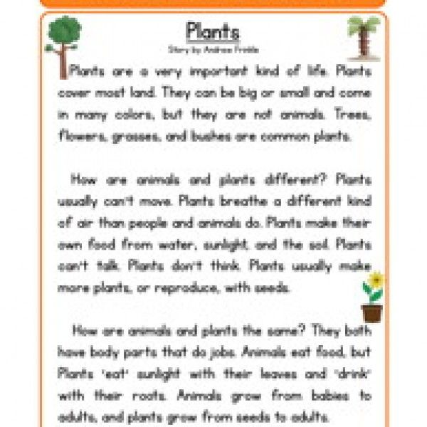 life science stories comprehension plants guided reading reading worksheets reading. Black Bedroom Furniture Sets. Home Design Ideas