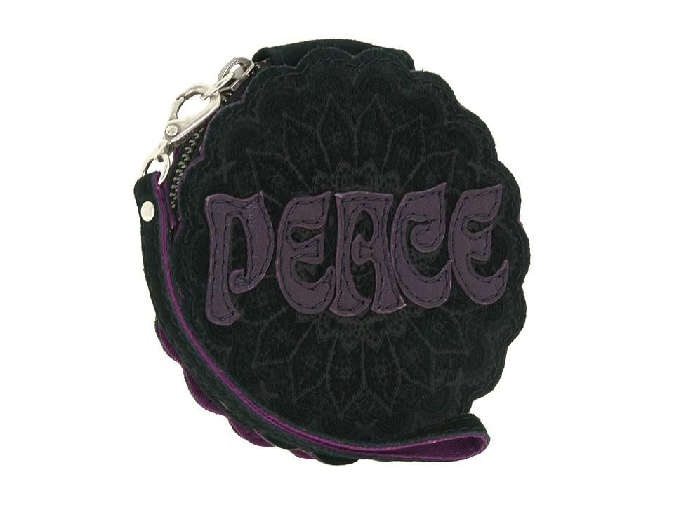 New Lucky Brand Peace Patch Coin Purse Wristlet Bag
