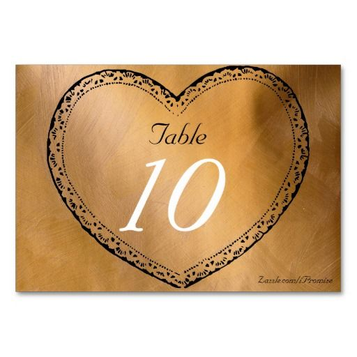 print your own wedding table number copper hearts wedding table