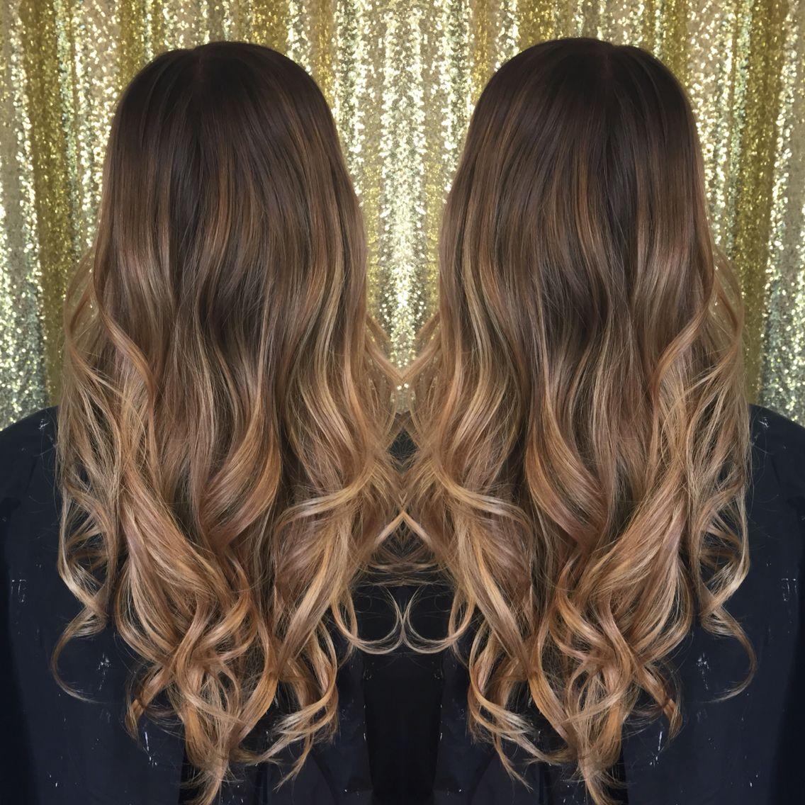 balayage hair brunette to blonde wlosy pinterest haar frisur und haarfarbe. Black Bedroom Furniture Sets. Home Design Ideas