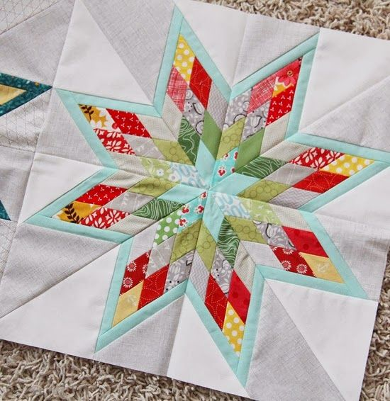 Gorgeous star block from Cluck Cluck sew
