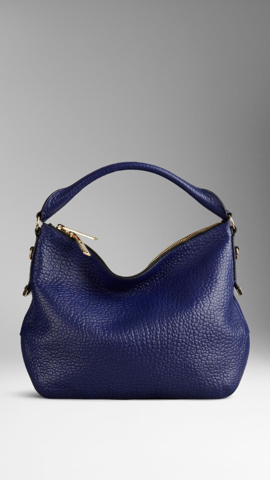 82316a6fdcdd Small Signature Grain Leather Hobo Bag