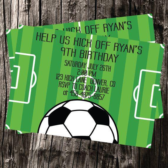 Soccer Thank You Cards Handmade