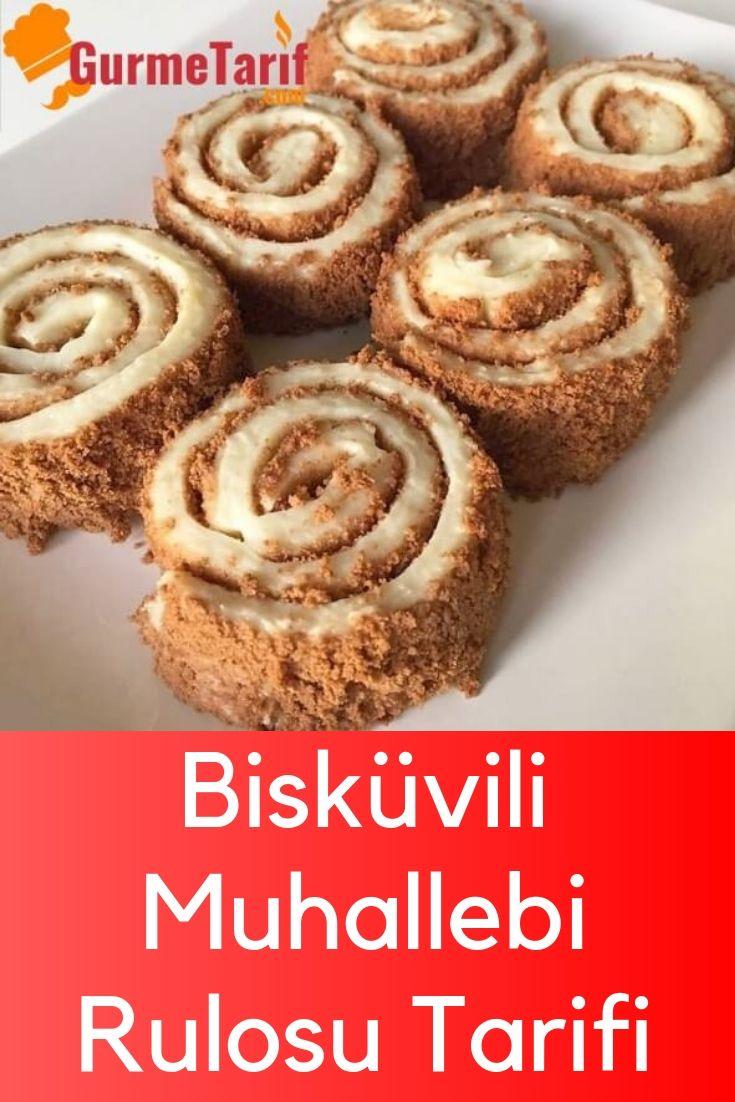 Bisküvili Muhallebi Rulosu Tarifi