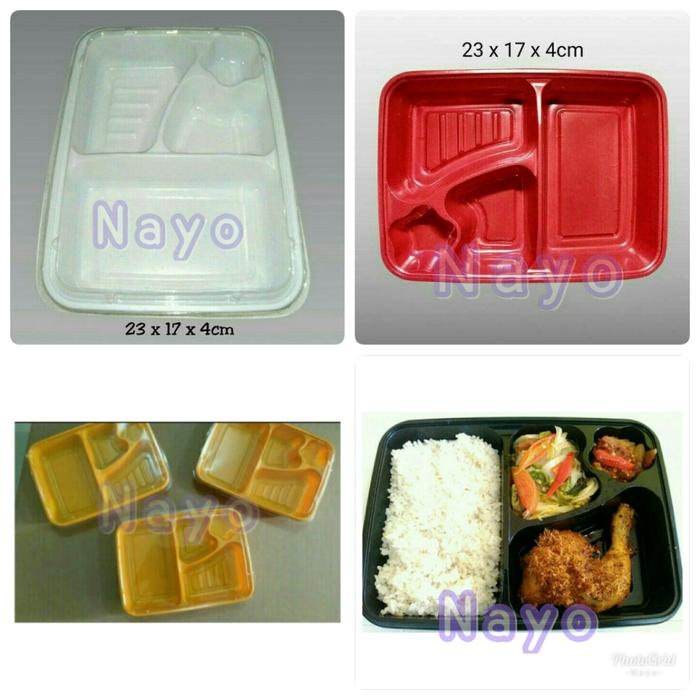 bento mika 4 sekat bento tray tempat makanan lunch box box bento bento catering makanan bento mika 4 sekat bento tray tempat