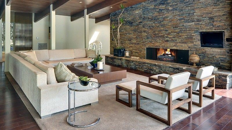 Wood Suspended Ceilings Can Add Warmth And Style To Your Interior There Are M Modern Rustic Living Room Interior Design Rustic Contemporary Living Room Design