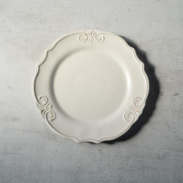 Naomi White Ceramic Dinner Plates (Set of 2 / 4) With a rustic yet & Naomi White Ceramic Dinner Plates (Set of 2 / 4) With a rustic yet ...