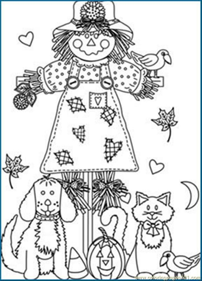 Printable Fall Coloring Pages free printable coloring page Fall