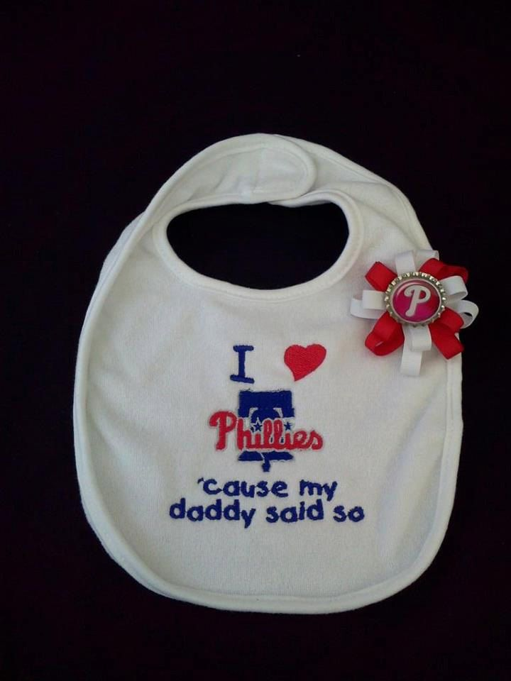 I+love+Phillies'cause+my+daddy+said+so+by+handmadehairbows+on+Etsy,+$10.00