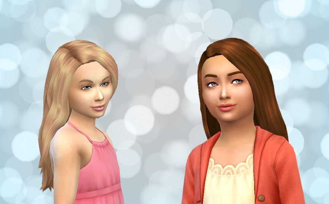 Mystufforigin Straight Hair For Girls Sims 4 Hairs Girl Hairstyles Straight Hairstyles Hairstyle