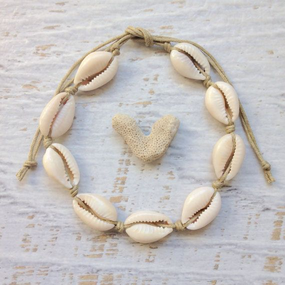 cowrie shell anklet mermaid jewelry beach by beachcombershop
