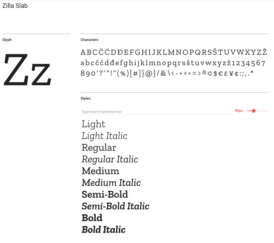 Zilla Slab   convey   Fonts, Google fonts, Typography