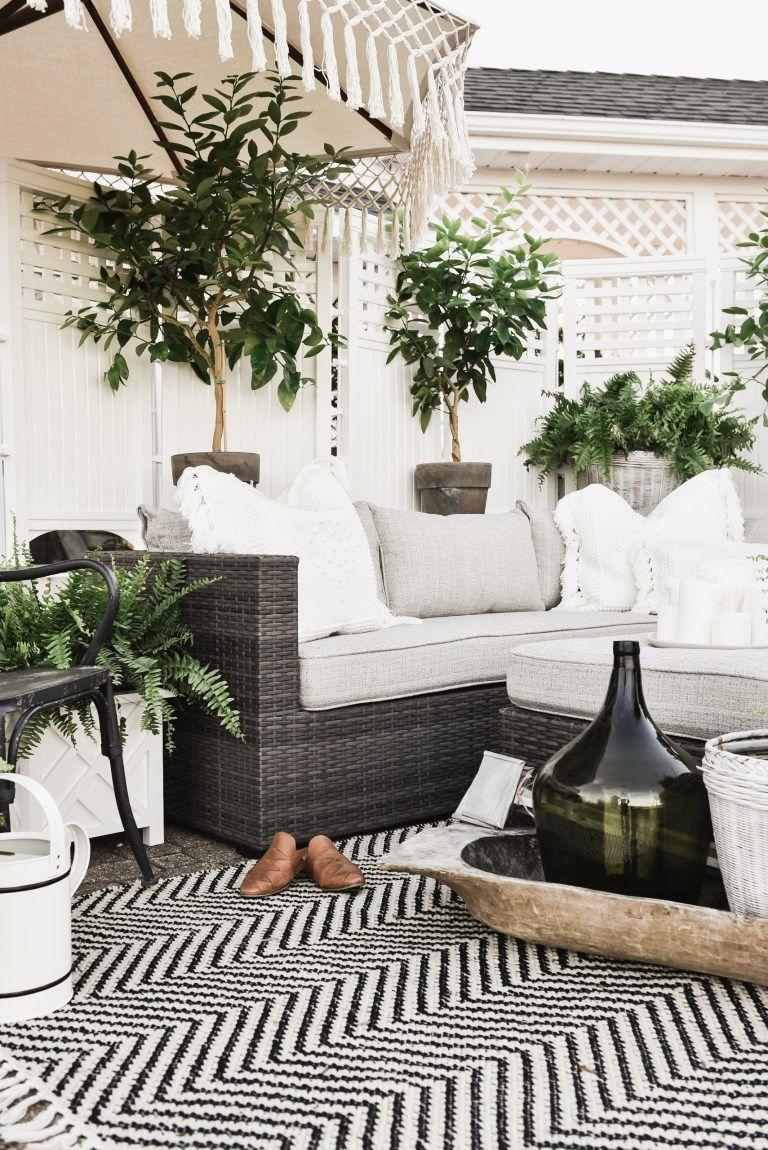 Cozy Farmhouse Patio Patio Design Dream Decor Outdoor
