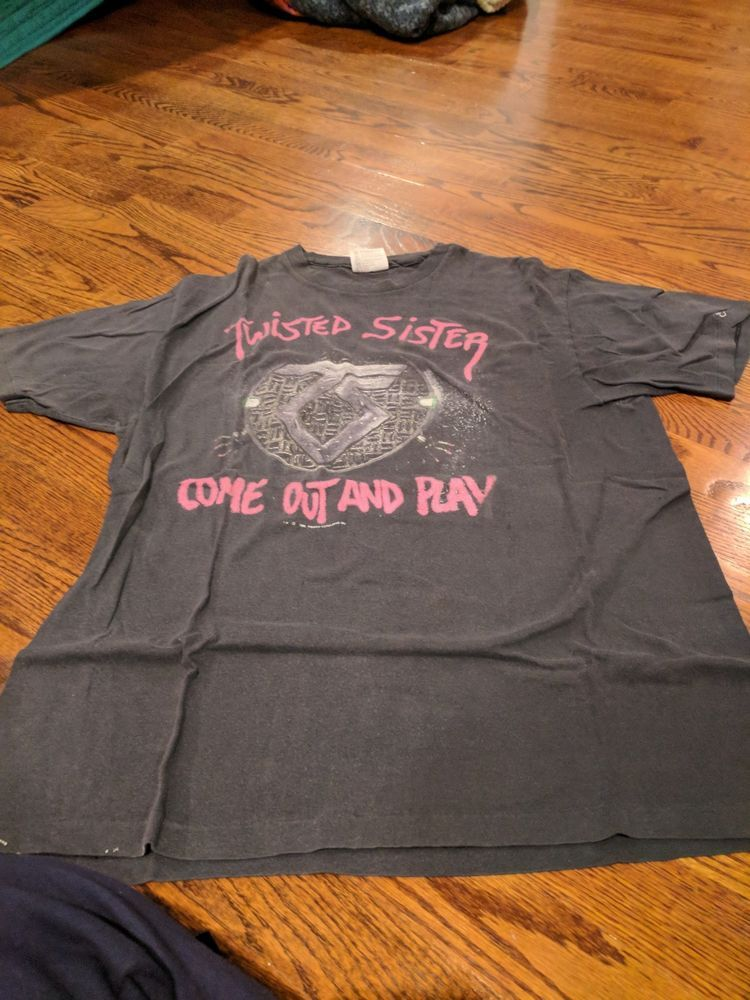 1994d4e27b0a5 Vintage Heavy Metal T-shirt Twisted Sister Come Out And Play Men's ...