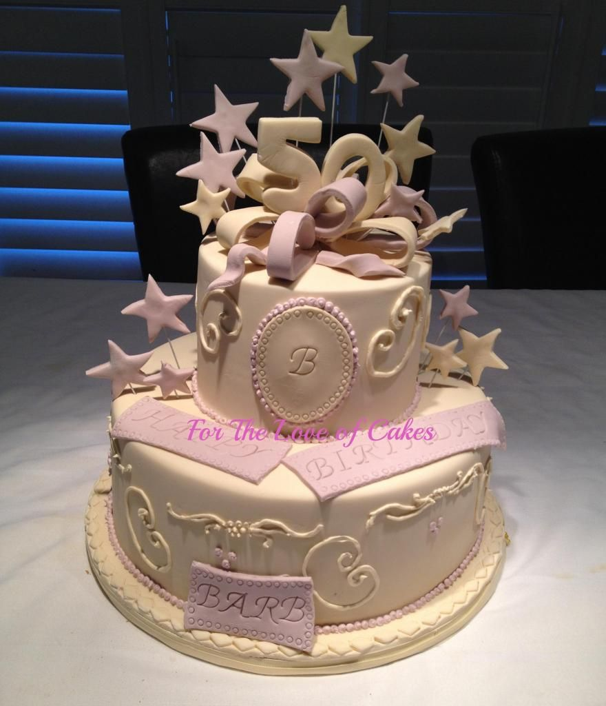 50th Birthday Cake for a young lady For The Love of Cakesca