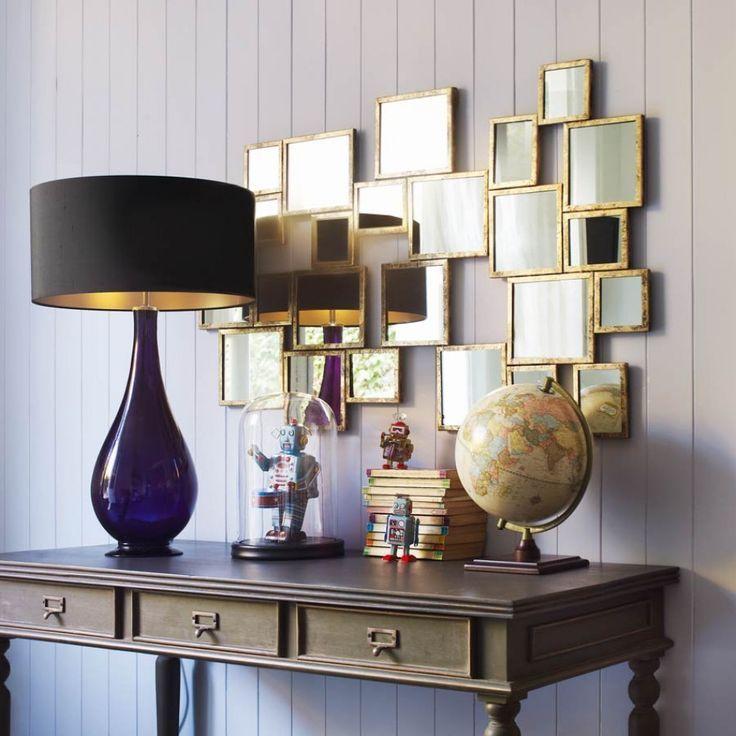 Espejos pared de espejos lamapara espejos cuadrados for Decoracion de paredes con espejos
