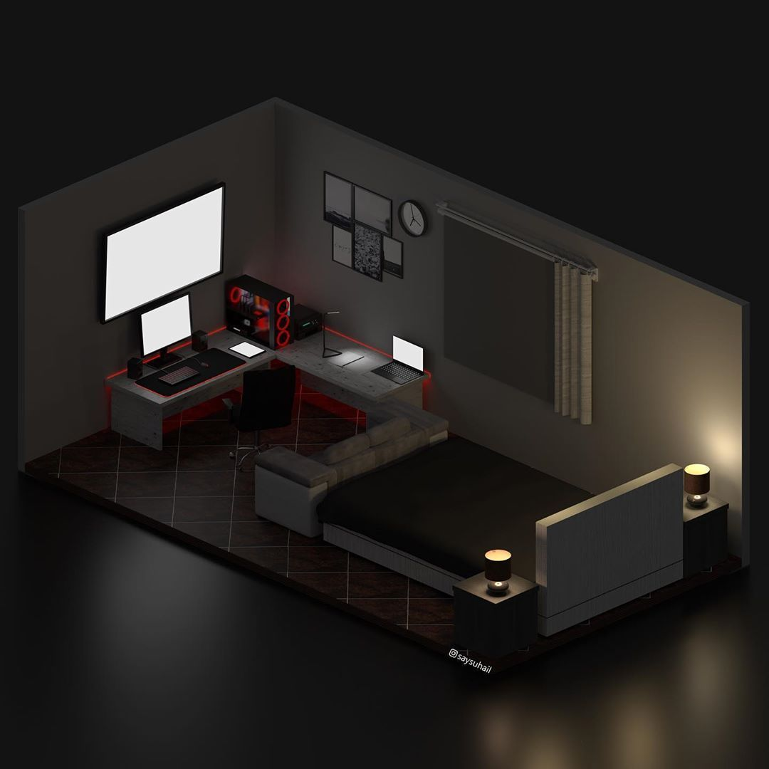Suhail Kang On Instagram Thanks Ahmad Alsyed For Giving Me The Opportunity To Make A Custom Room For Him Yo Bedroom Setup Home Room Design Game Room Design