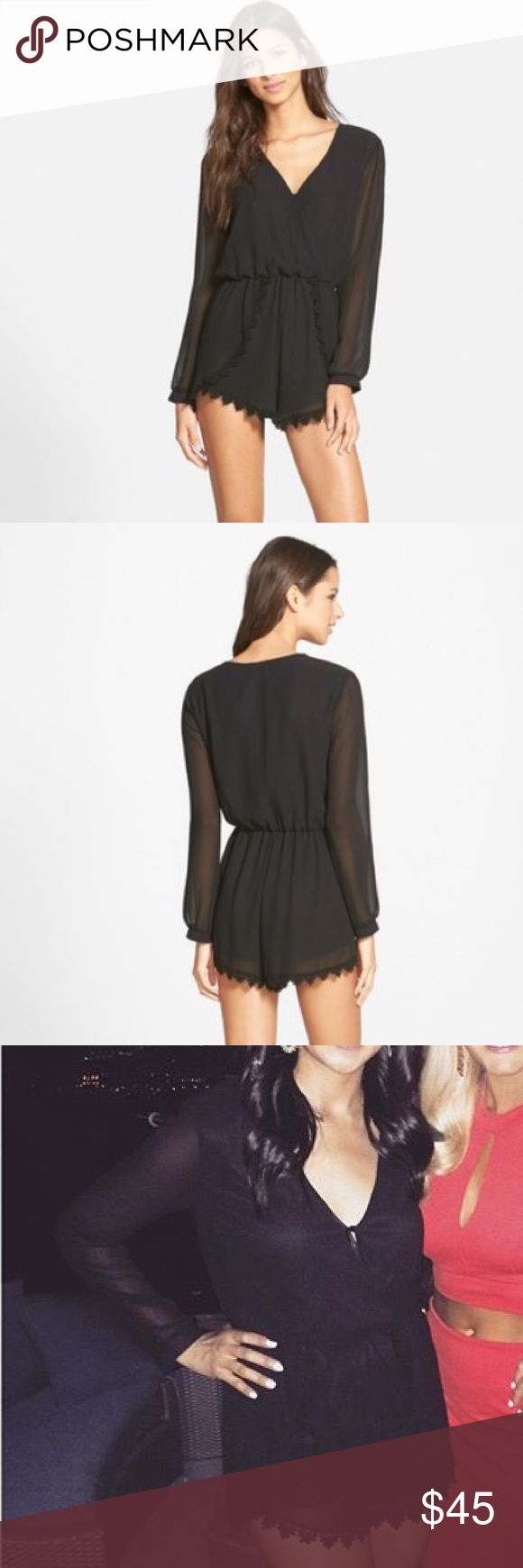 ASTR from Nordstrom Black Romper Wore once to Vegas. Gently worn in great condition. Loved it. I live in a really conservative place so I probably won't get to wear it again. Astr Other