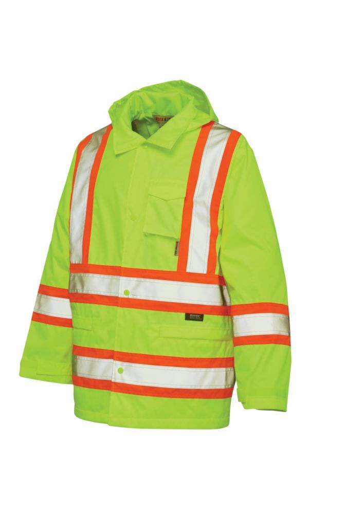 8cd8bc628 Hi-Vis Rain Jacket With Safety Stripes Yellow/Green Large | Products ...