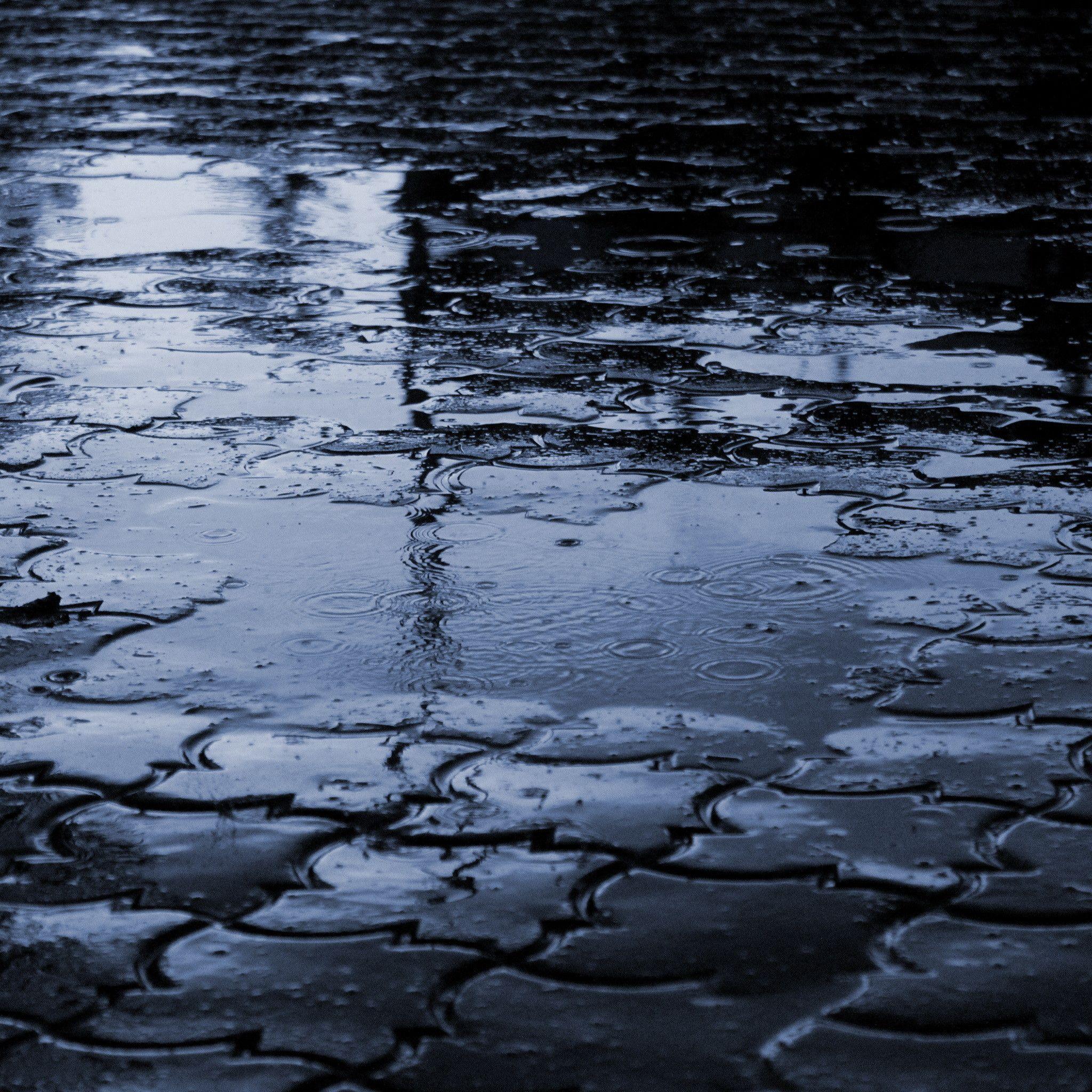 おしゃれなiPad壁紙「雨の歩道」
