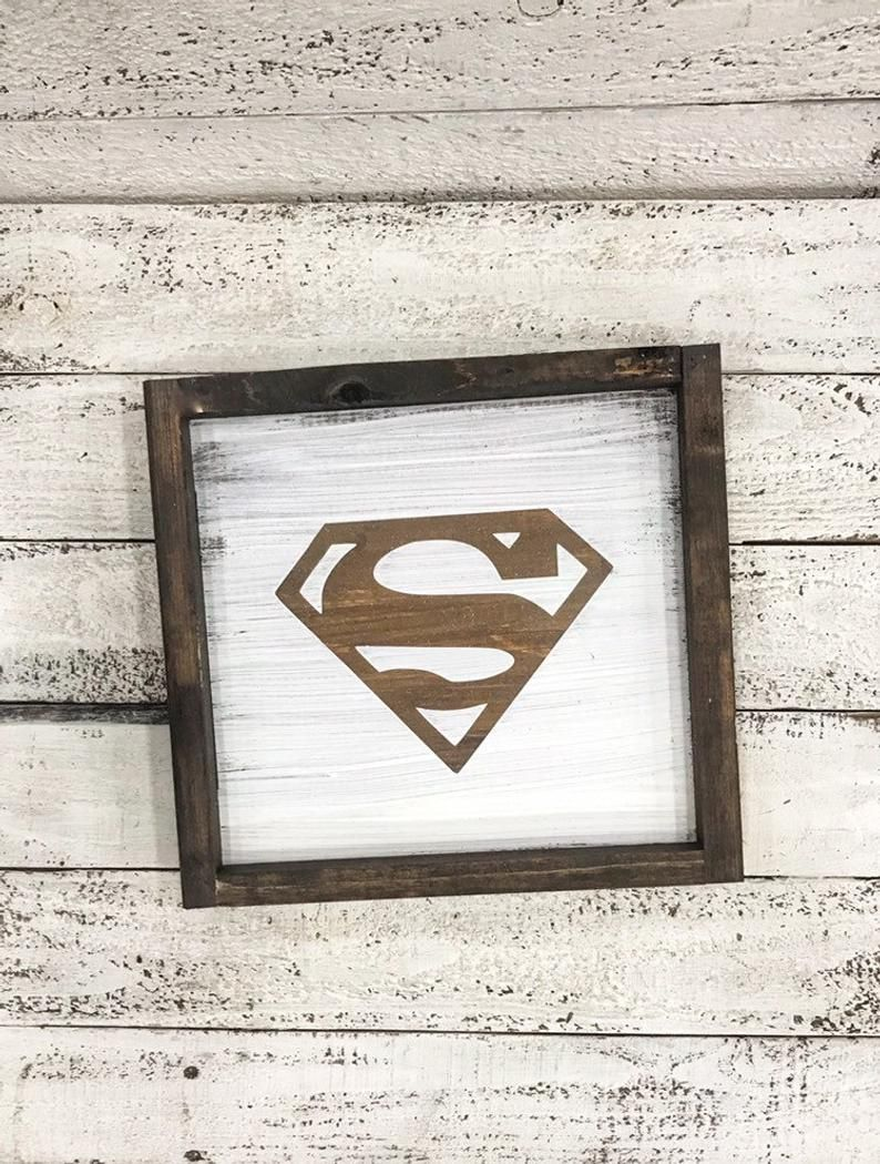 Kitchen Design 11x13 Room: Superman Sign. Man Cave. Gift For Him. Movie Theatre