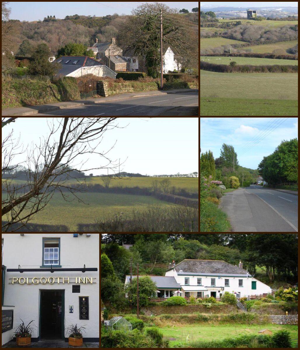 Polgooth (Cornish Pollgoodh) is a former mining village