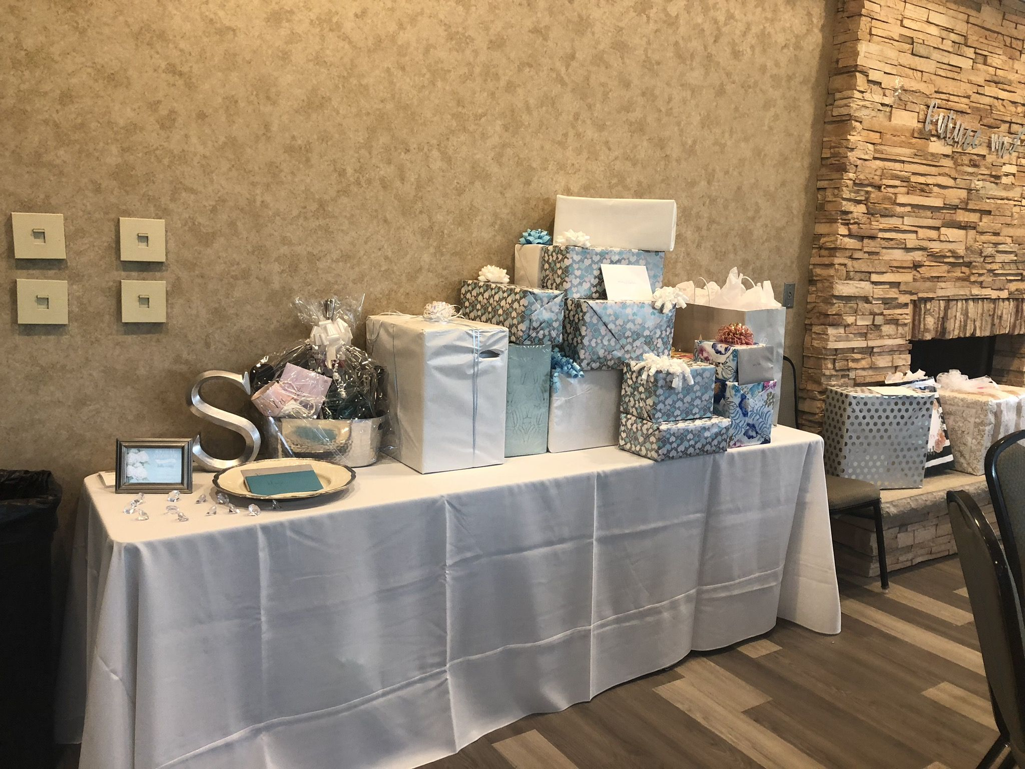 Gift Table For Bridal Shower In Golf School Room At
