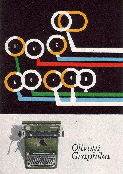 Olivetti Graphika typewriter advertising - 1950s