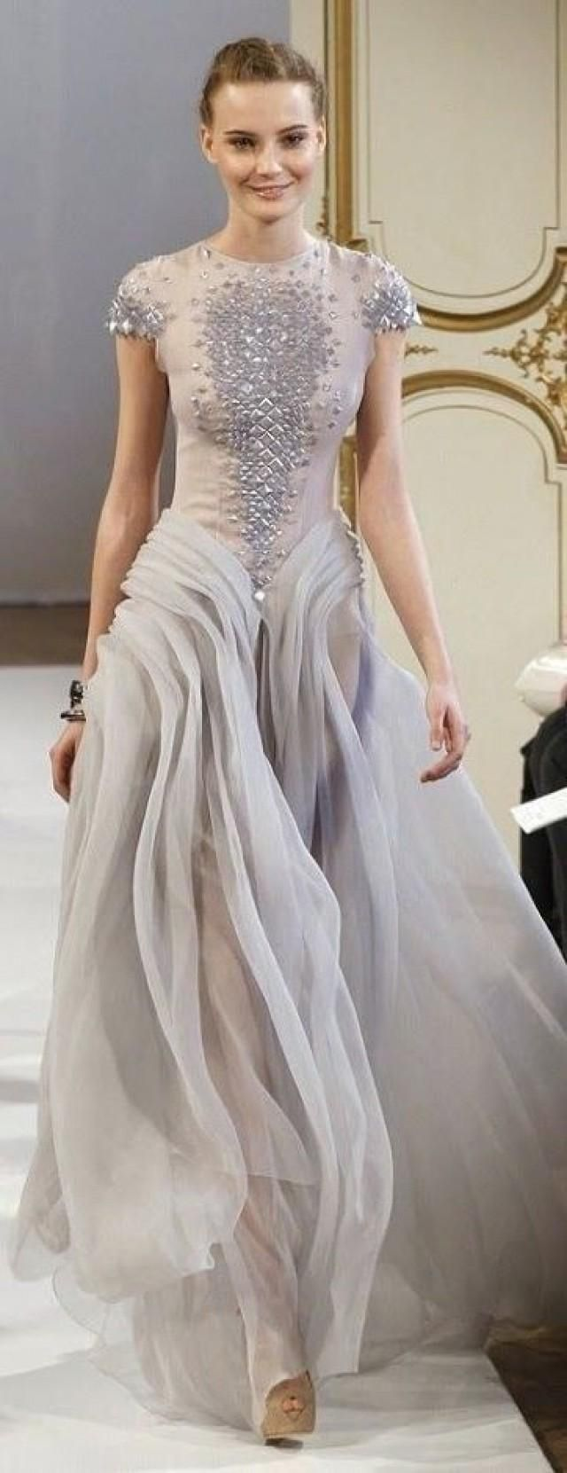 pale blue gown with detailed cap sleeve bodice!
