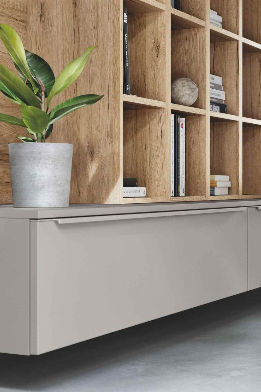 More Than Kitchen Mit Nobilia Von Der Kuche Aus Den Wohnraum Gestalten Kuchenfinder In 2020 Wohnzimmer Modern Moderne Schrankwande Schrankwand
