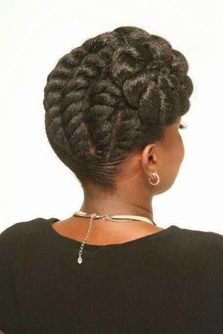 Idées coiffures cheveux crépus pour future mariée Combin