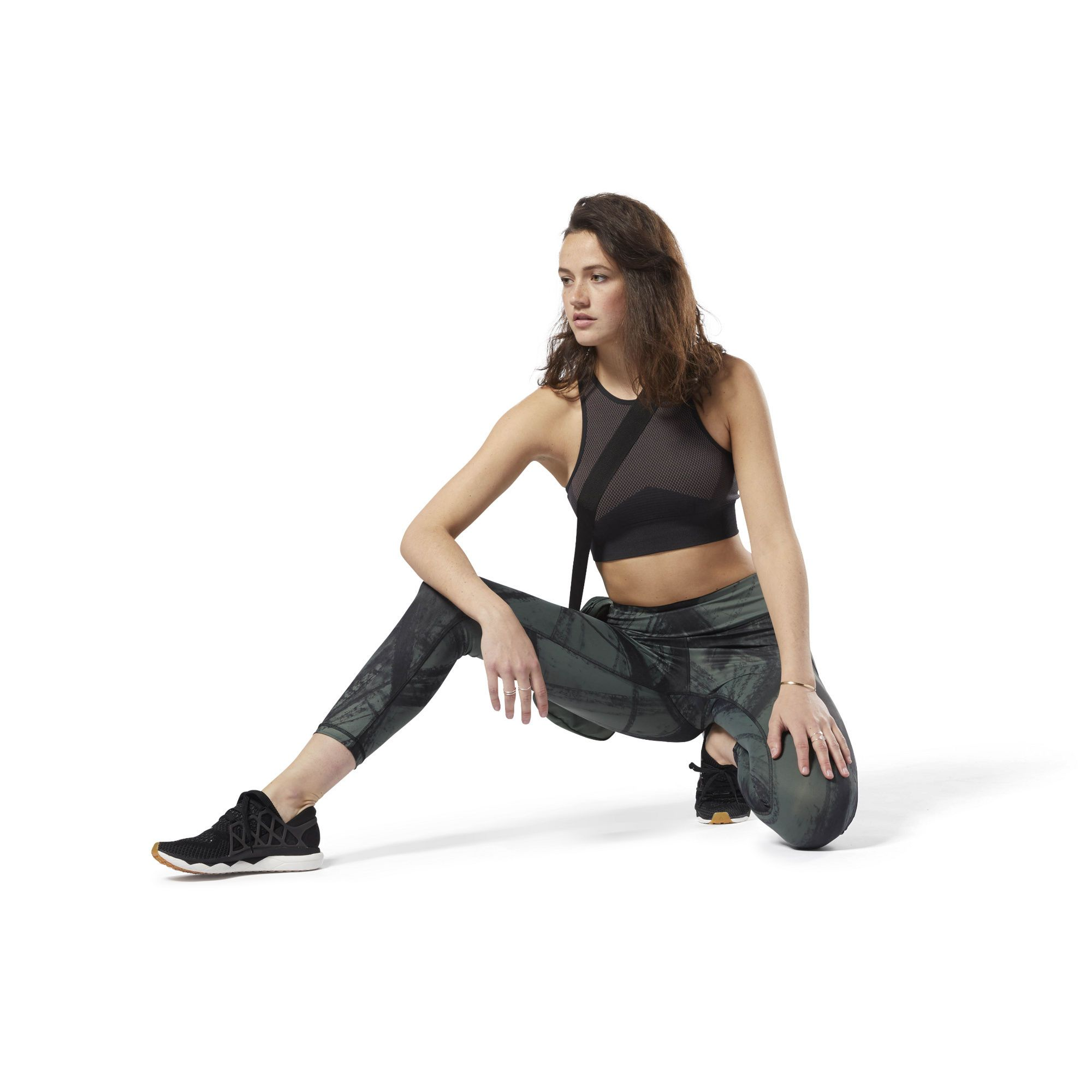 Shop For Lux Bold 7 8 Tight Chalked Movement Green At Reebok Com See All The Styles And Colors Of Lux B Womens Workout Outfits Green Leggings Reebok Women