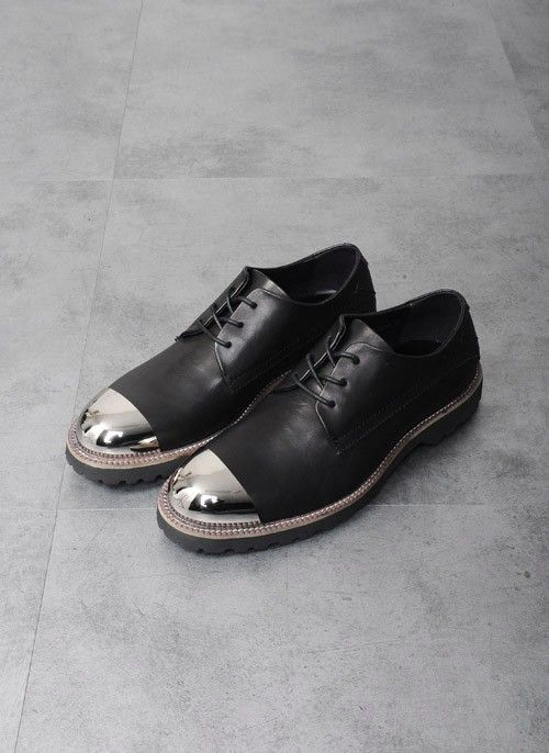 Black leather and metal | Best shoes for men, Shoes mens