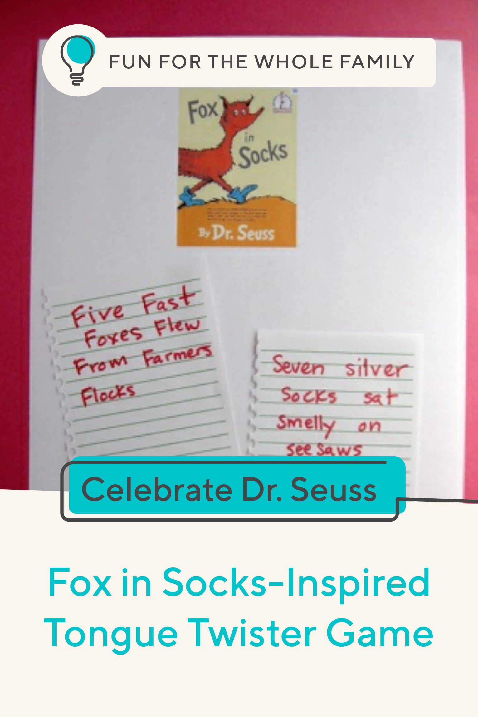 Fox In Socks Inspired Tongue Twister Contest