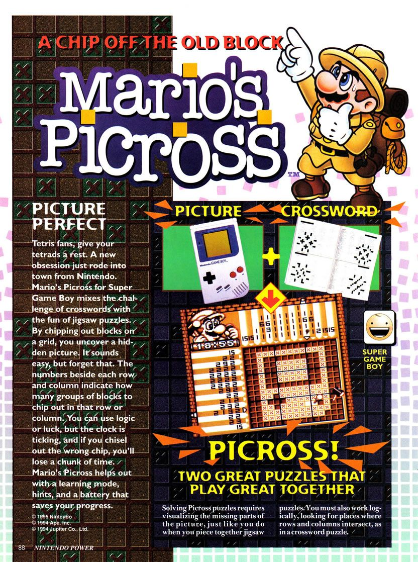Gameboy color ad - A Magazine Advertisement Preview For Mario S Micross A Puzzle Game Released For The Original