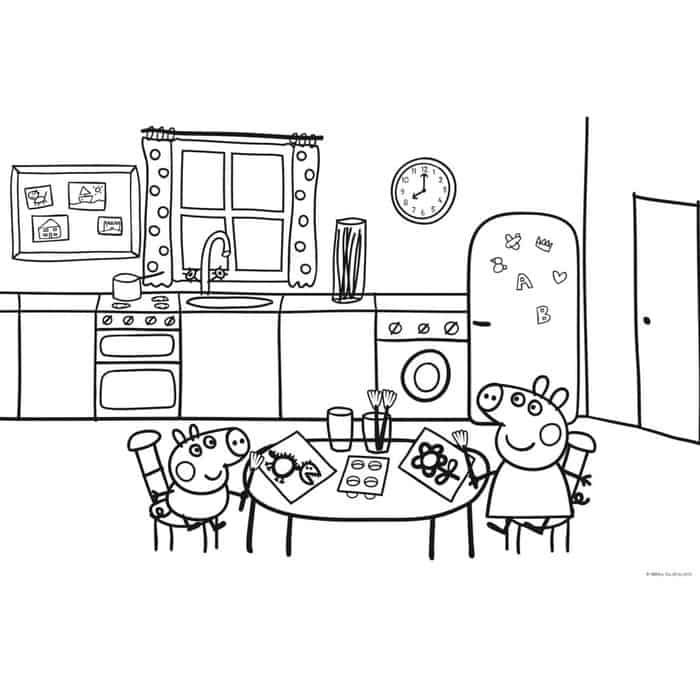 Peppa Pig Free Coloring Pages House Peppa Pig Coloring Pages Peppa Pig Peppa Pig Birthday