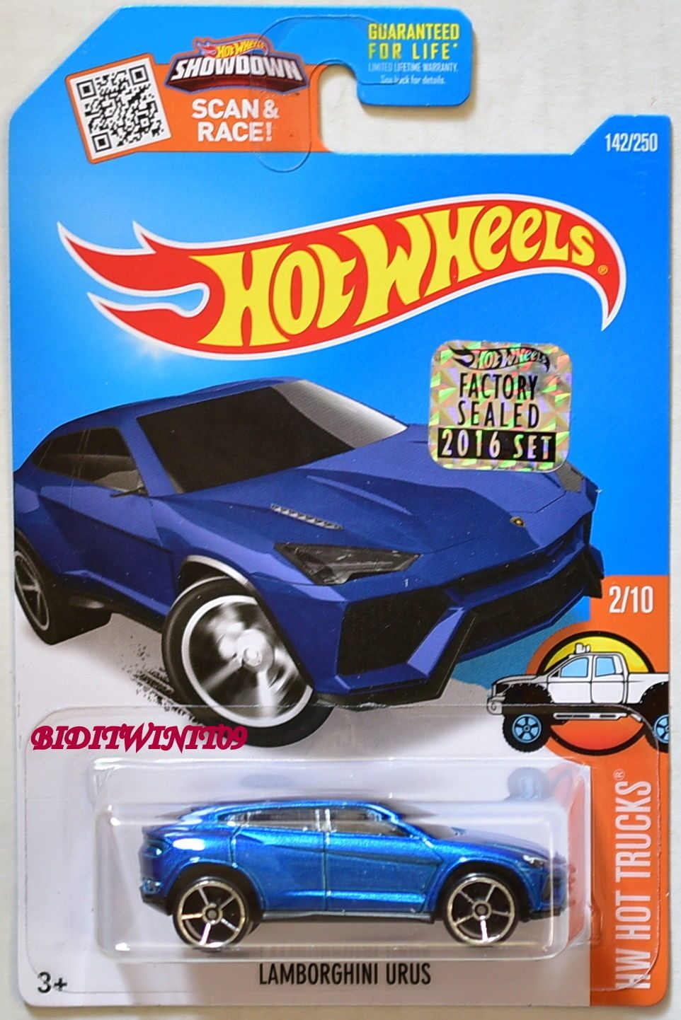 Used HOT WHEELS 2016 HW HOT TRUCKS URUS 2/10