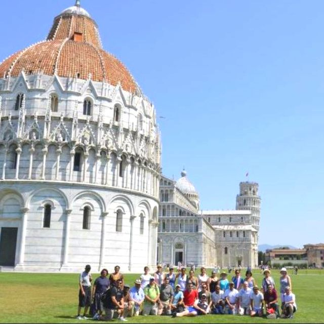 Our tour group at the Tower of Pisa