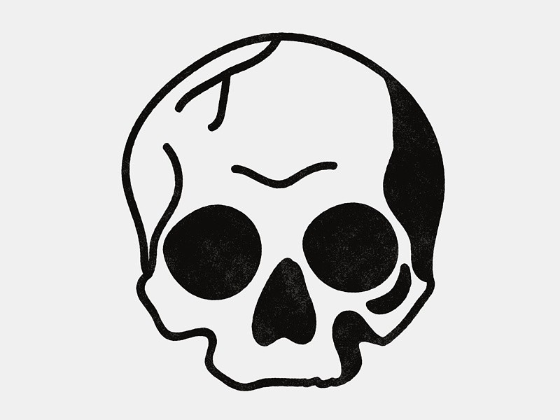 Skull Line Drawing Easy : Simple blackwork skull body art pinterest