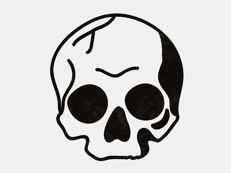 Simple Blackwork Skull Skull Drawing Simple Skull Art Drawings Simple