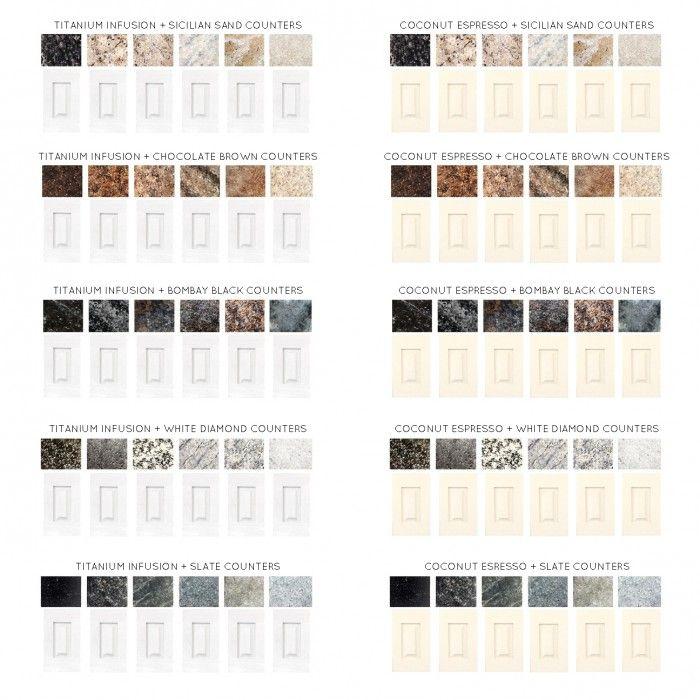 Espresso Colored Kitchen Cabinets: Titanium Infusion & Coconut Espresso
