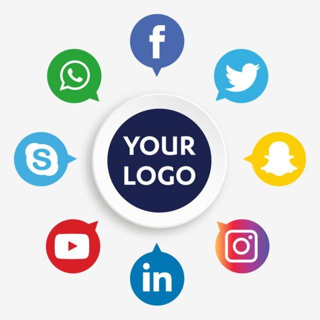 أيقونات وسائل التواصل الاجتماعي الرموز الاجتماعية الأيقونات وسائل الإعلام أيقونات وسائل التواصل الاجتماعي Png والمتجهات للتحميل مجانا In 2020 Social Media Icons Vector Social Media Logos Media Icon