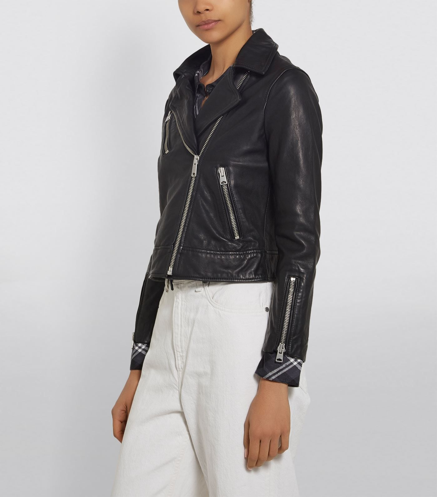 Allsaints Fia Leather Biker Jacket Ad Sponsored Fia Allsaints Leather Jacket Biker Casual Fashion Fashion Leather Biker Jacket [ 1592 x 1400 Pixel ]