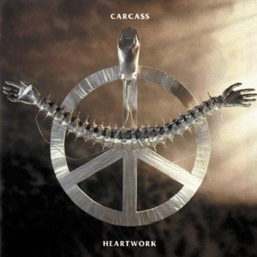 Carcass- Heartwork (1993)... Carcass' crowning achievement. Progressive and heavy, one of the BEST metal albums of all time!