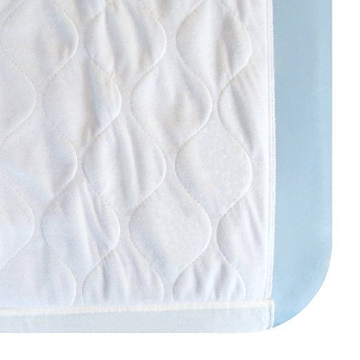 Amazon Com Saddle Style Waterproof Mattress Pad Sheet Protector 34 X 36 Inches Absorbs 6 Cups Waterproof Mattress Pad Waterproof Mattress Mattress Pad
