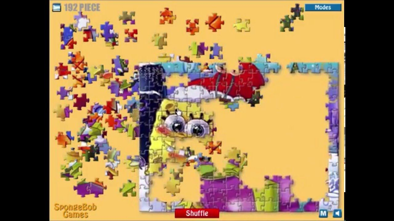 Nickelodeon Games | Spongebob Games | Christmas SpongeBob Puzzle ...