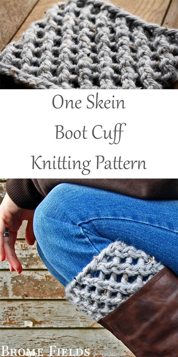 One Skein Boot Cuff Knitting Pattern : Thoughtful by Brome ...