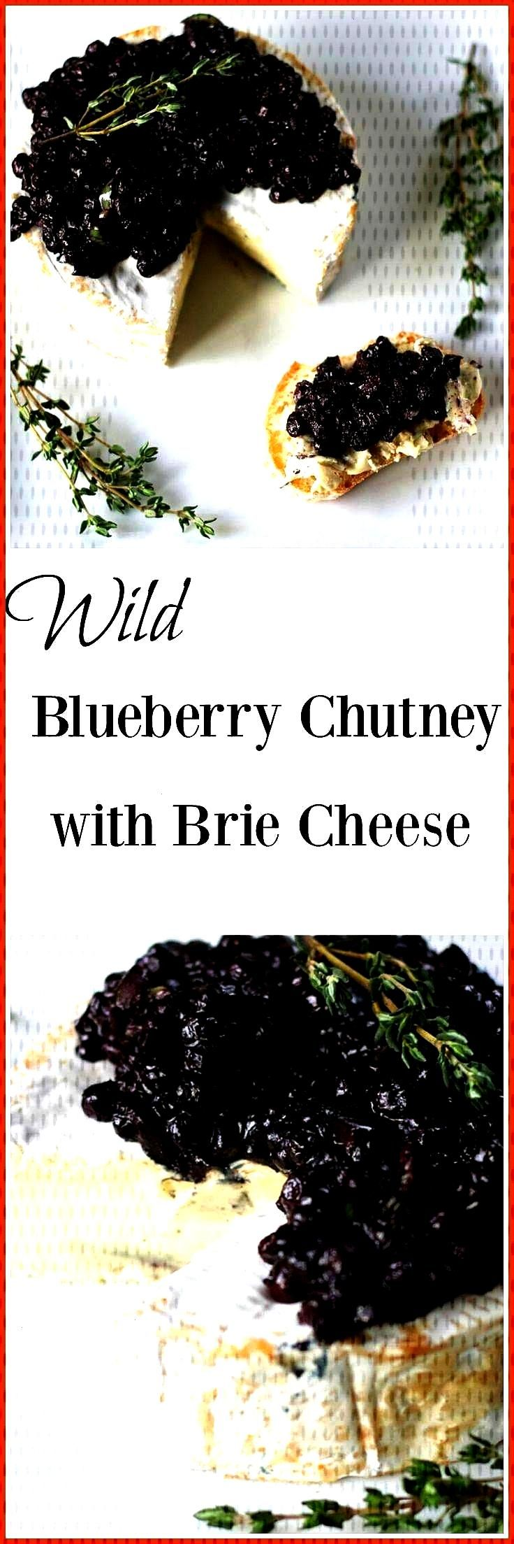 perfect holiday appetizer, this Wild Blueberry Chutney with Creamy Brie is e… holiday appetierz a
