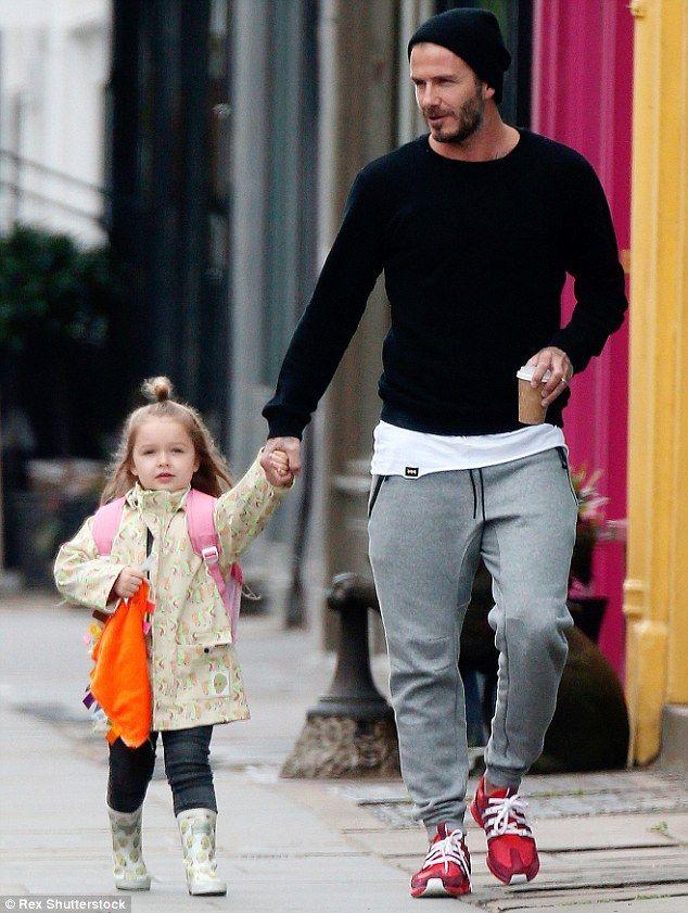 David Beckham wearing Adidas Nmd R1 in White, Adidas