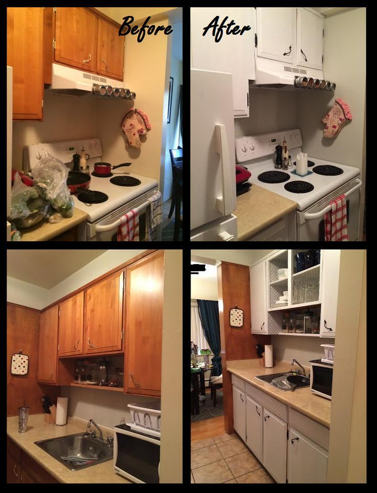 Easy And Cheap Rental Kitchen Makeover A Fresh Coat Of Paint On The Walls And C Cheap - Billige Küchenschränke